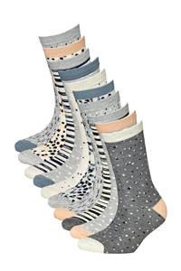 Apollo sokken - set van 10 grijs, Grijs