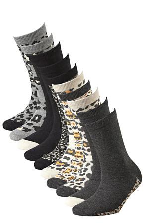 sokken - set van 10 grijs