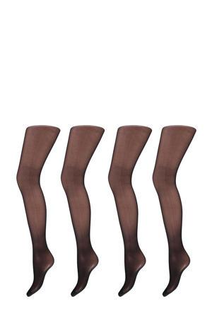 corrigerende panty 20 denier - set van 4 zwart