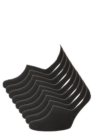 no-show sneakersokken Basic Bamboo - set van 9 zwart