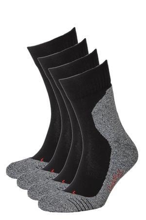 hardloopsokken - set van 4 zwart