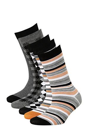 sokken Bamboe - set van 6 zwart