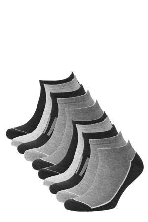 sneakersokken - set van 10 grijs