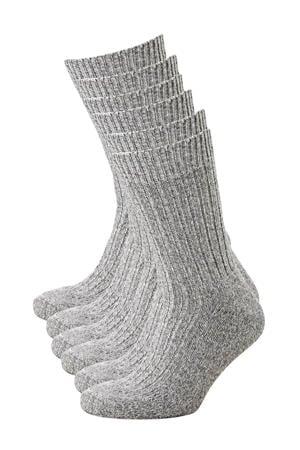 sokken Norwegian (6 paar) grijs