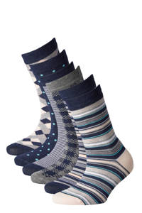 Apollo sokken Bamboe - set van 6 marine, Donkerblauw