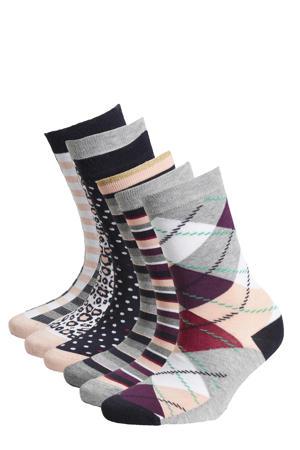 sokken Bamboo - set van 6 grijs
