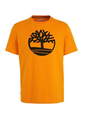 T-shirt met logo oranje/zwart