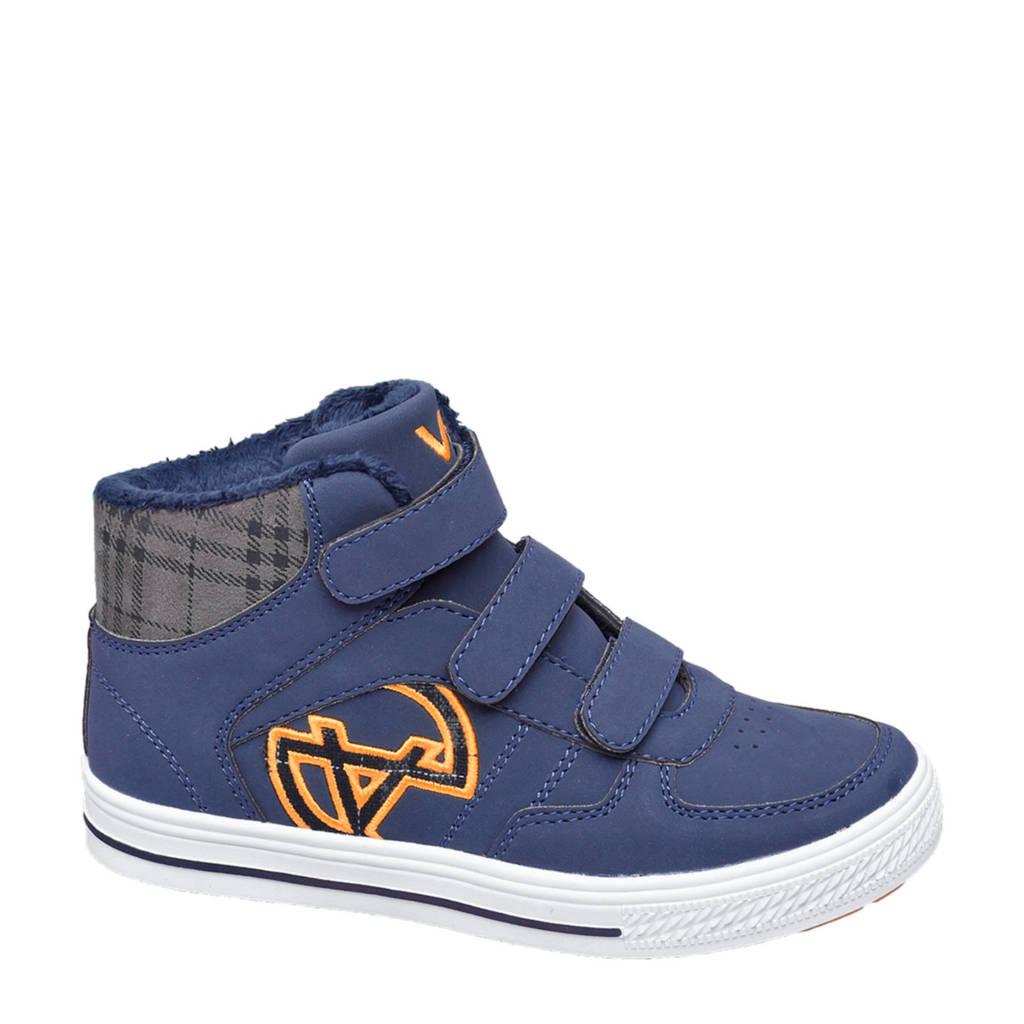 Vty   hoge sneakers blauw, Blauw/geel
