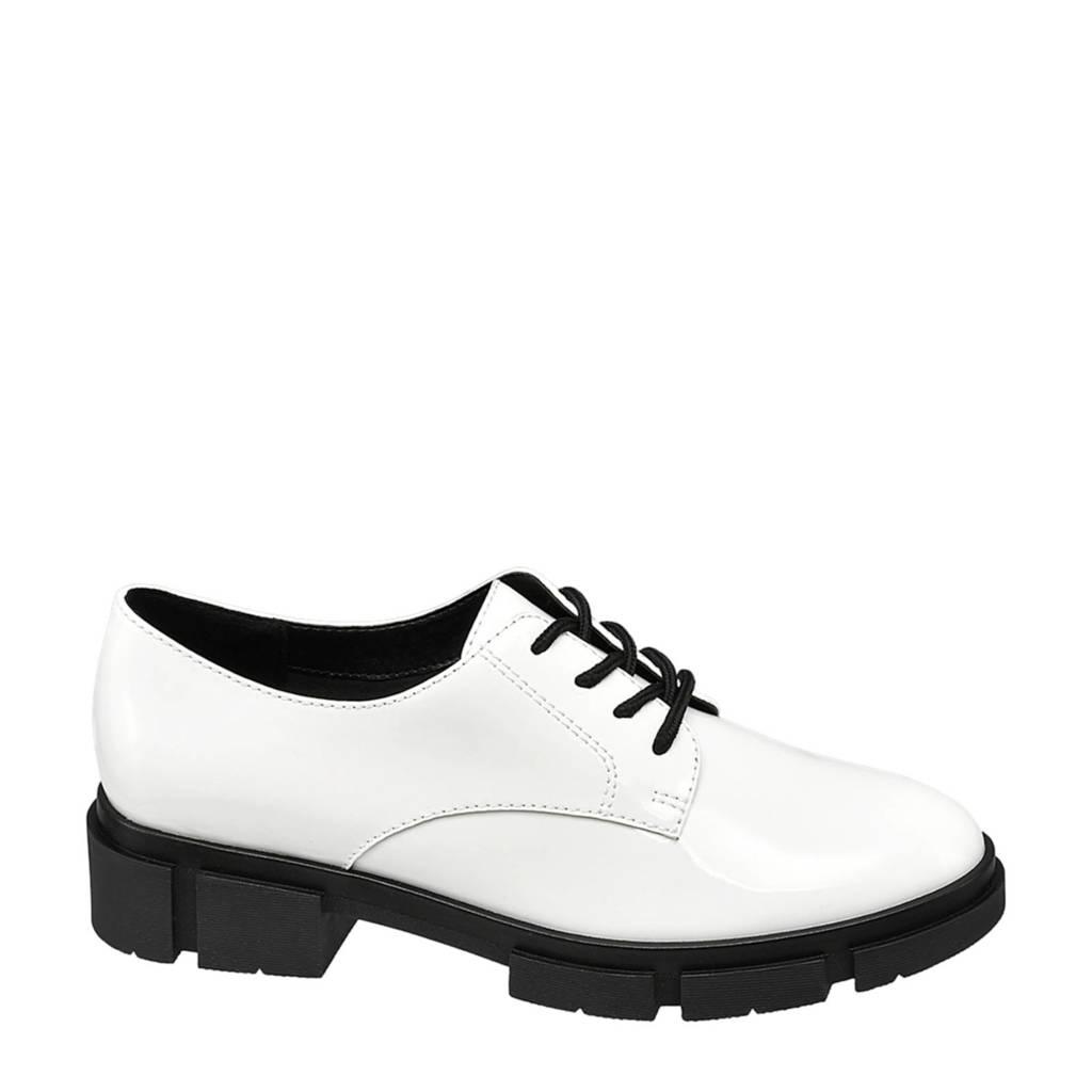 Oxmox   veterschoenen wit, Wit