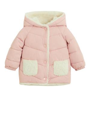 baby gewatteerde winterjas roze