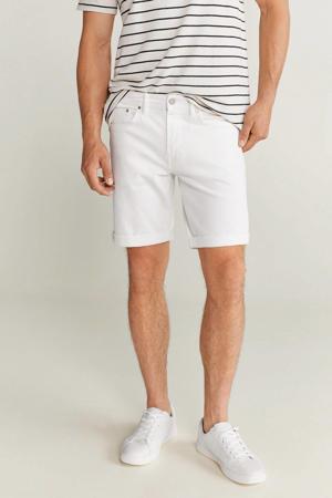 regular fit jeans short wit