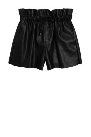 high waist regular fit short zwart