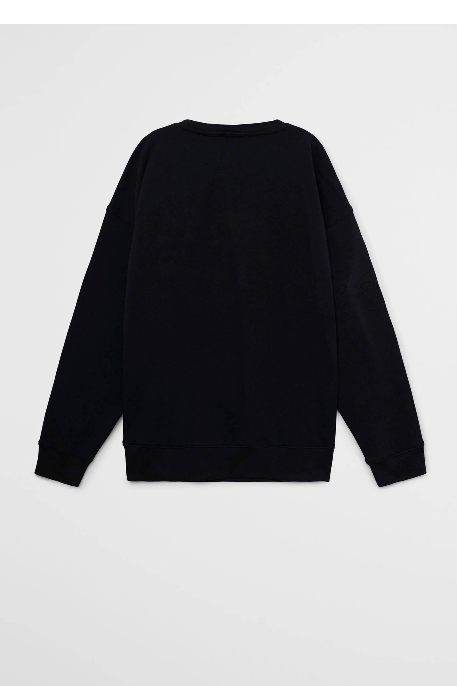 Mango Kids sweater met tekst zwartwit | wehkamp