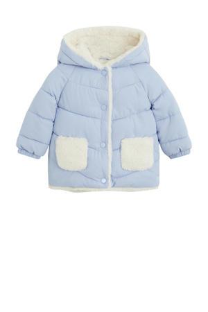 baby gewatteerde winterjas lichtblauw