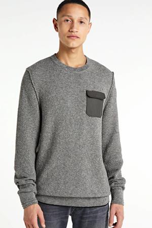 gemêleerde trui grijs melange