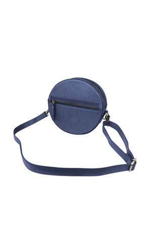 leren crossbody tas Luna blauw