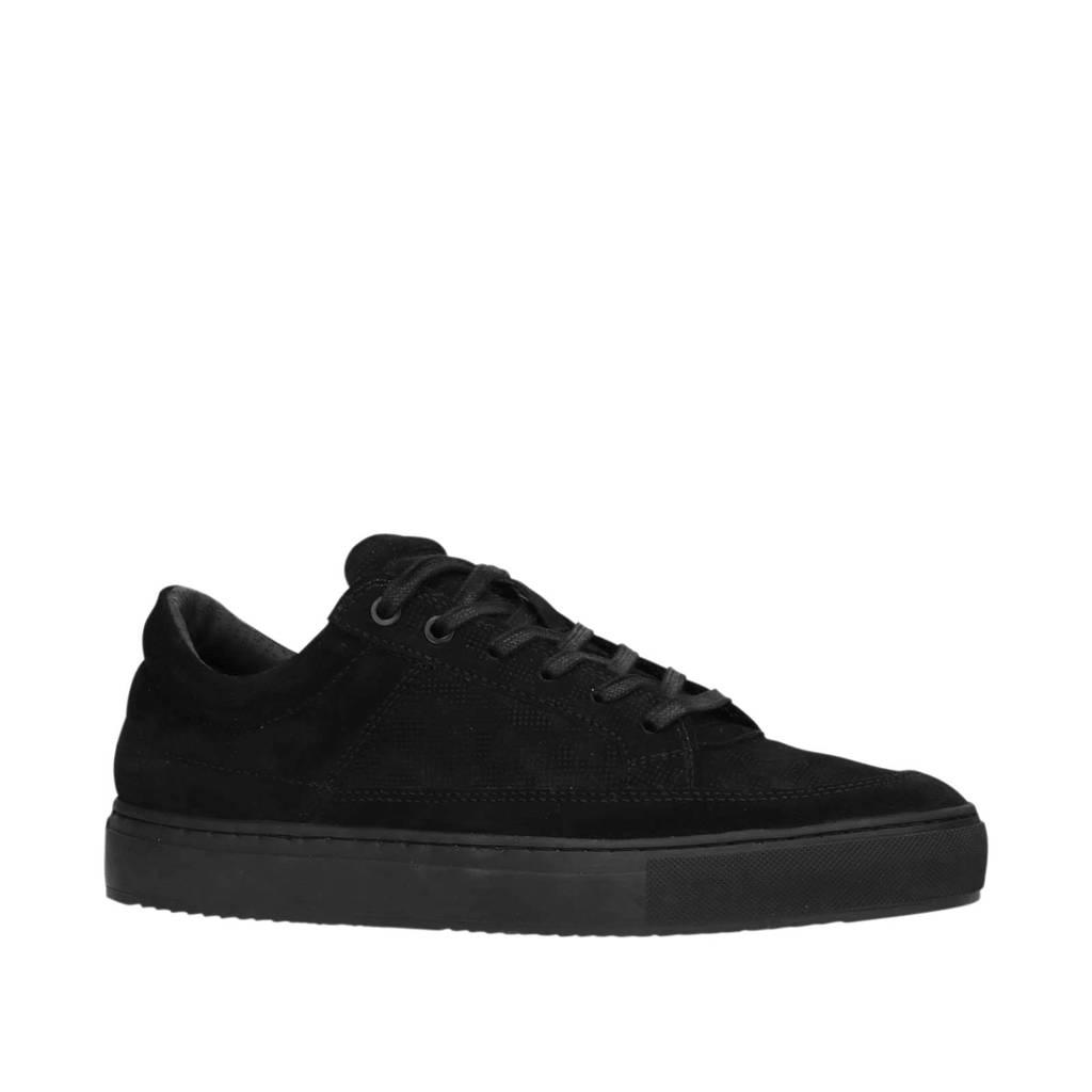 Sacha   suède sneakers zwart, Zwart