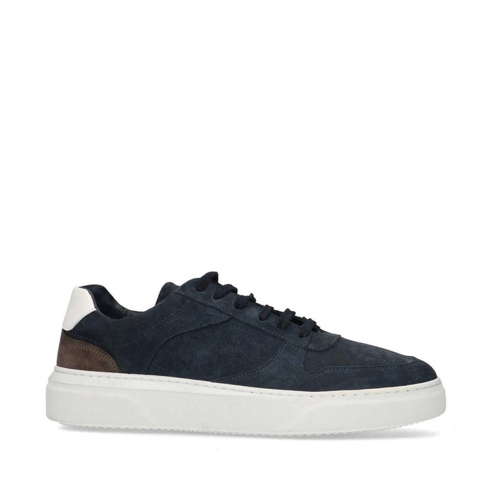 Sacha   suède sneakers donkerblauw, Donkerblauw