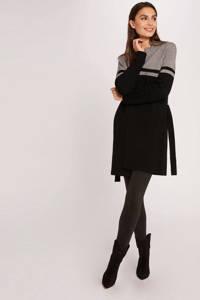 Morgan vest met ceintuur grijs/zwart, Grijs/zwart