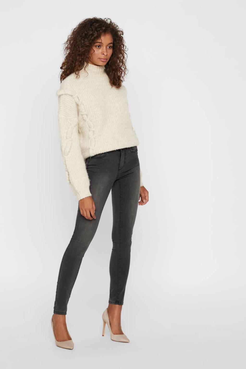 VERO MODA skinny jeans Tanya donkergrijs, Donkergrijs