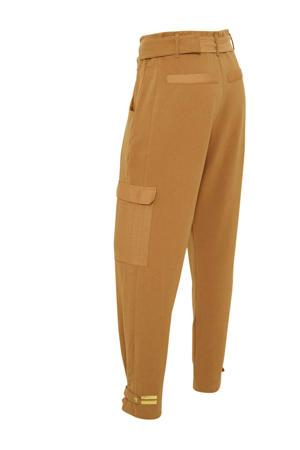high waist loose fit cargobroek bruin