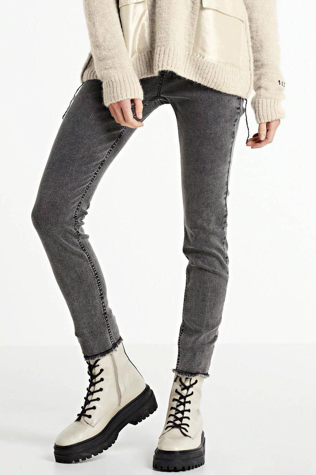 10DAYS high waist skinny jeans grijs, Grijs