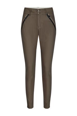 slim fit broek Milton Night Pant met biologisch katoen bruin