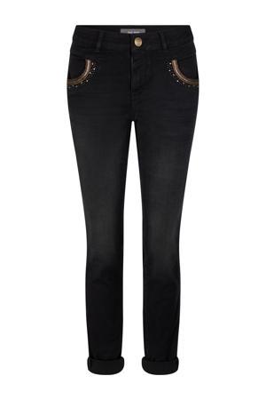 slim fit jeans Naomi Mercury Jeans met biologisch katoen zwart