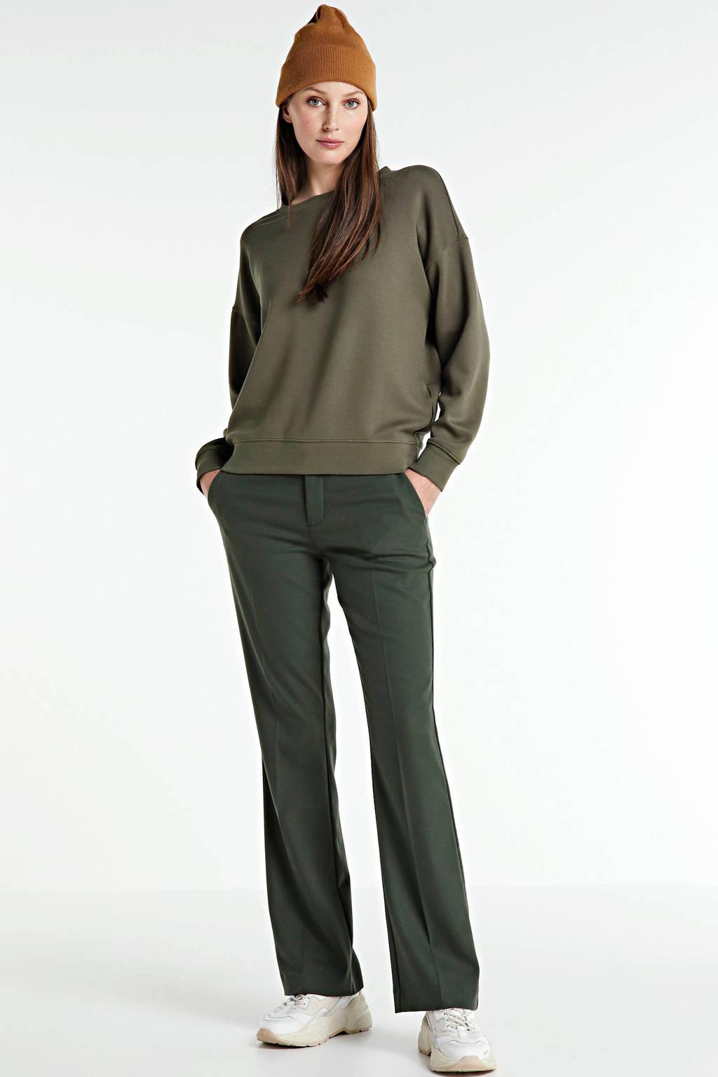 Mos Mosh bootcut pantalon Farrah Twiggy groen, Groen