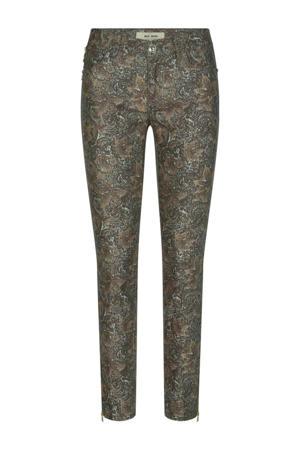 skinny jeans Victoria Jive Pant met all over print bruin