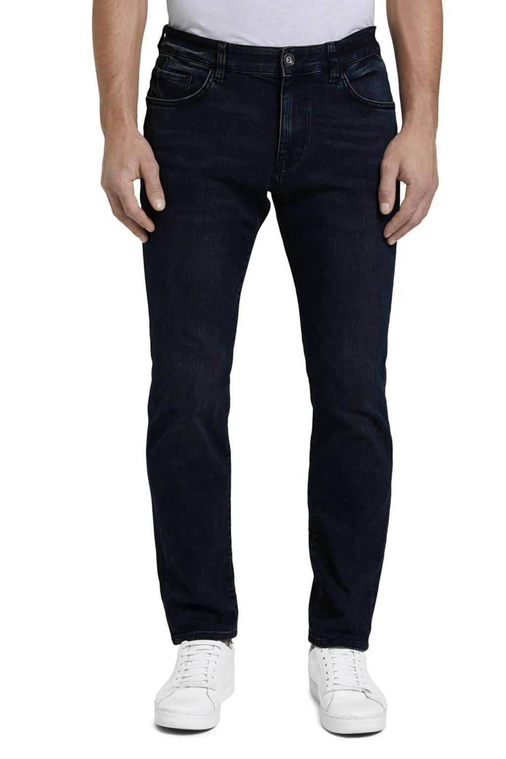Tom Tailor straight fit jeans Marvin donkerblauw, 10136 Dark blue denim