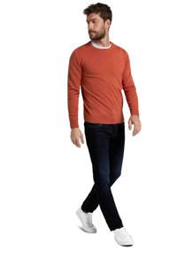 Tom Tailor straight fit jeans Marvin donkerblauw, 10282 dark stone wash deni