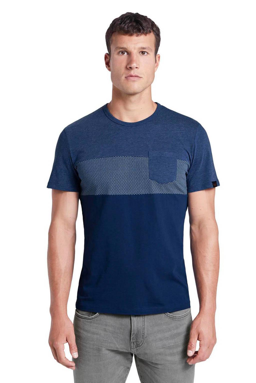 Tom Tailor gestreept T-shirt donkerblauw, Donkerblauw
