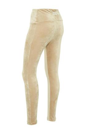 velours legging zand