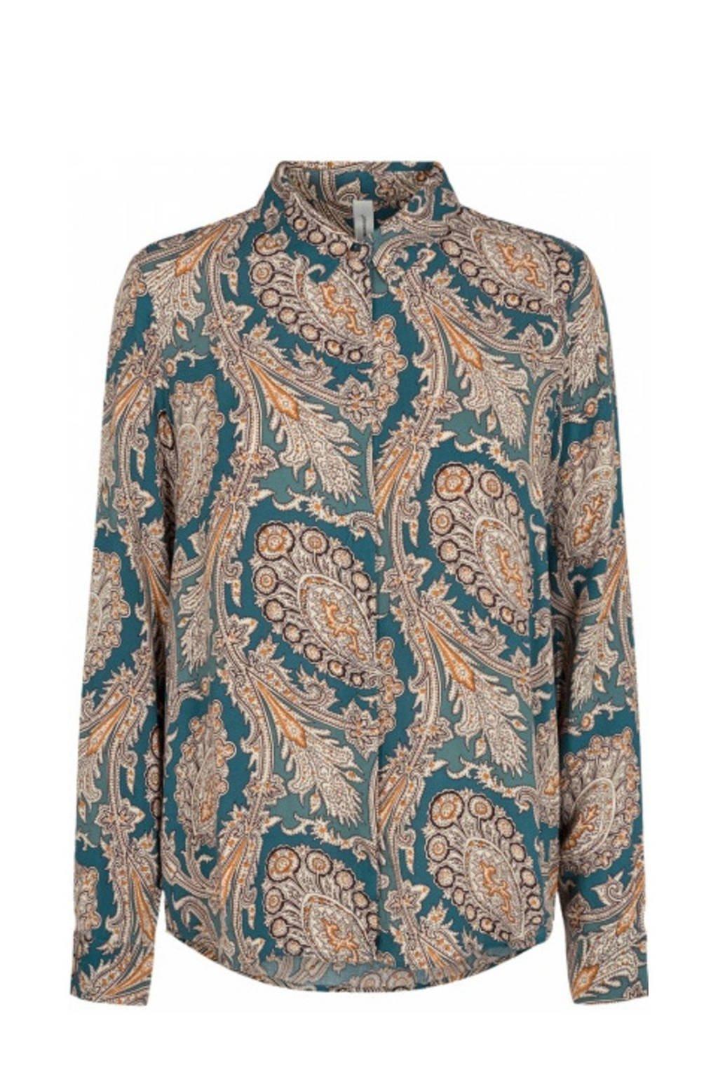 Soyaconcept blouse SC-LUCINDA 2 met all over print grijs, Grijs