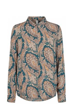 blouse SC-LUCINDA 2 met all over print grijs