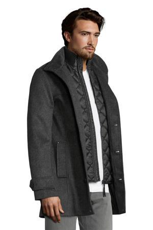 jas met wol donkergrijs