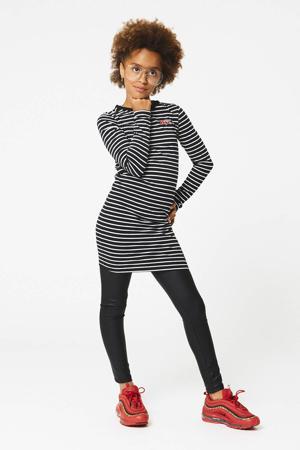 gestreepte jurk Daantje zwart/wit