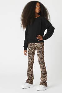 CoolCat Junior sweater Shay met tekst zwart, Zwart