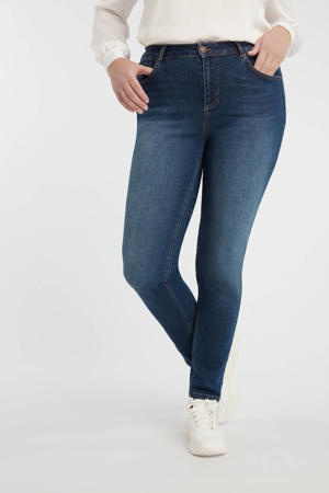 high waist slim fit jeans dark denim