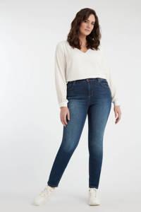 MS Mode high waist slim fit jeans dark denim, Dark denim