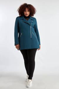 MS Mode coat midden blauw, Midden blauw