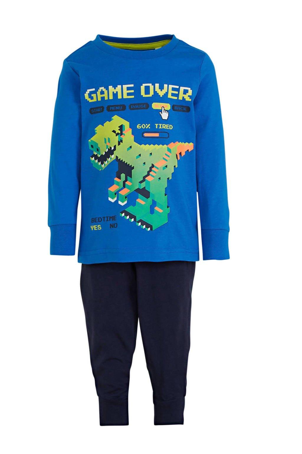 C&A Palomino   pyjama printopdruk blauw, Blauw/donkerblauw/geel