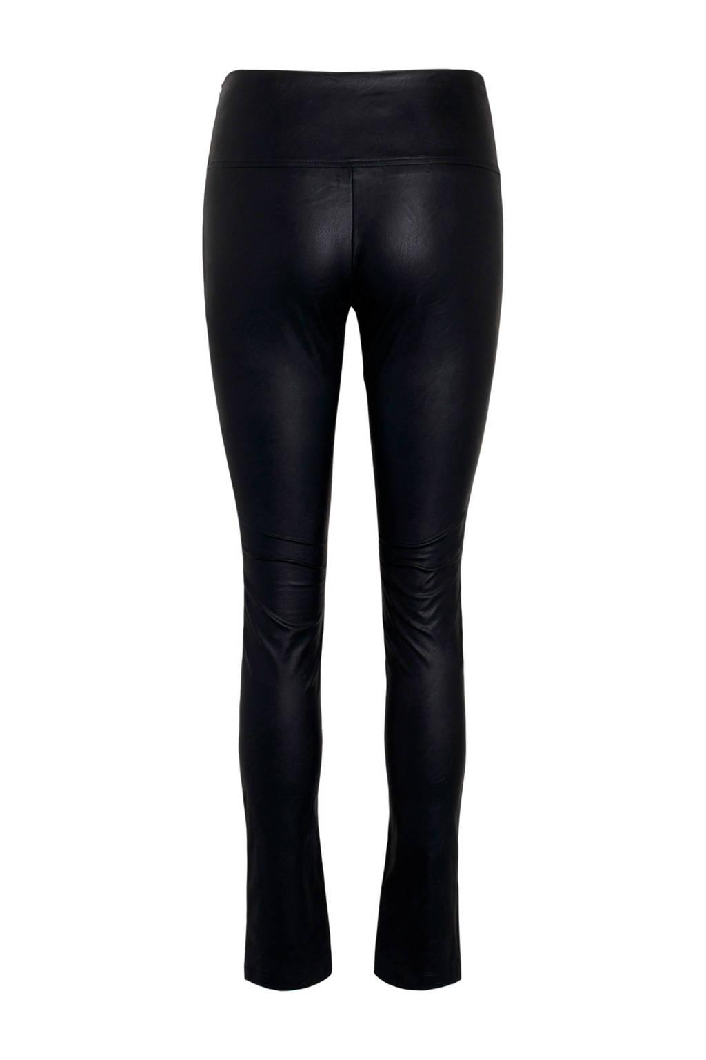 SisterS Point imitatieleren broek Dara zwart, Zwart