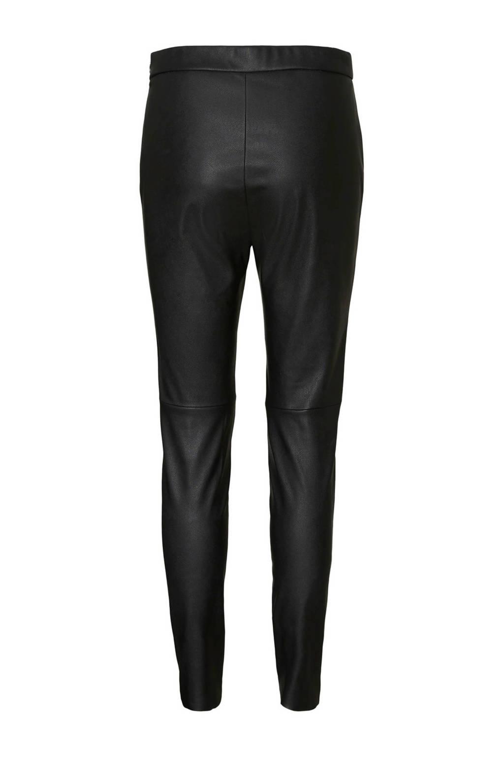 VERO MODA legging met coating zwart, Zwart