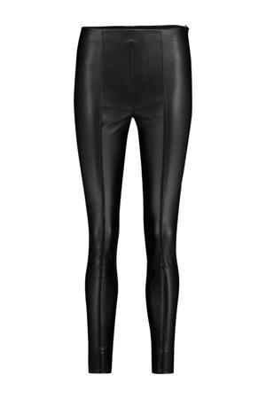 imitatieleren skinny broek Pelia zwart