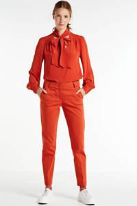 Summum Woman slim fit pantalon rood, Rood