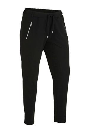 slim fit broek Disy zwart/zilver