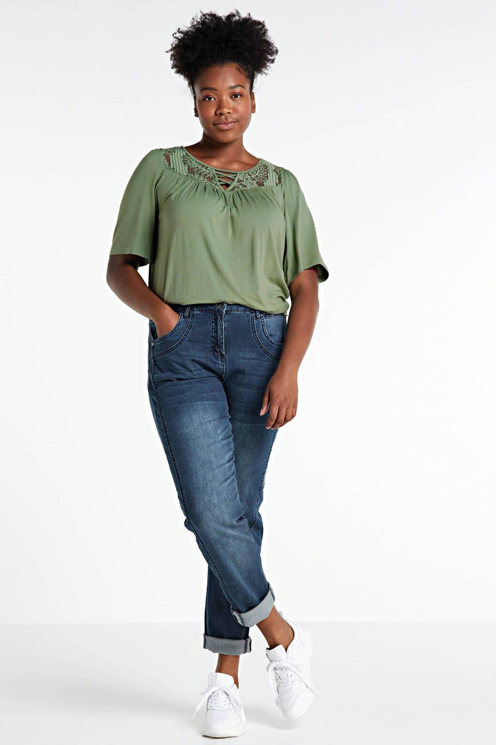 Zhenzi straight fit jeans Salsa dark denim stonewashed, Dark denim stonewashed