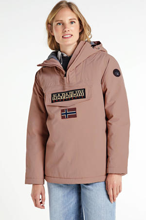 anoraks Rainforest met logo pink woodrose